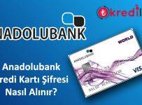 Anadolubank Kart Şifresi Alma