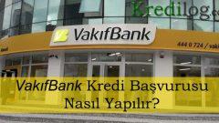 Vakıfbank Kredi Başvurusu 2018