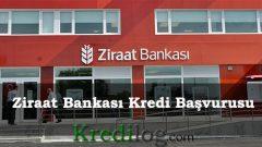 Ziraat Bankası Kredi Başvurusu 2018