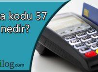 Hata kodu 57 nedir?