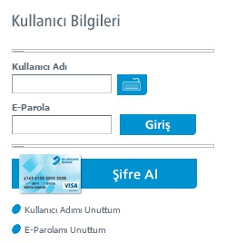 Burgan bank internet bankacılığı şifre al ekranı
