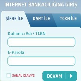 Denizbank İnternet Bankacılığı Giriş Ekranı