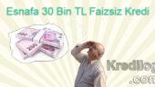 Esnafa 30 Bin TL Faizsiz Kredi