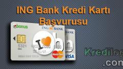 ING Bank Kredi Kartı Başvurusu 2018