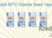 Taksitli MTV Ödeme Nasıl Yapılır?