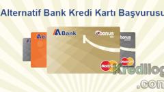 Alternatif Bank Kredi Kartı Başvurusu 2018
