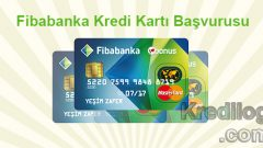 Fibabanka Kredi Kartı Başvurusu 2018