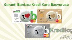 Garanti Bankası Kredi Kartı Başvurusu 2018