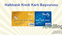 Halkbank Kredi Kartı Başvurusu 2018