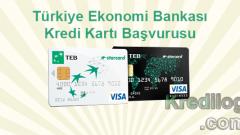 TEB Kredi Kartı Başvurusu 2018