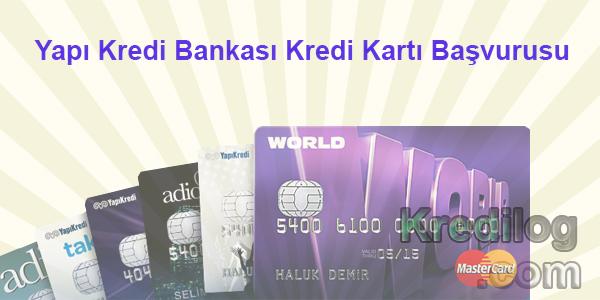 Yapı Kredi Bankası Kredi Kartı Başvurusu