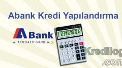 Abank Kredi Yapılandırma 2018