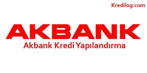 Akbank Kredi Yapılandırma GÜNCEL