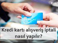 kredi kartı alışveriş iptali