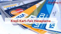 Kredi Kartı Borcu Aylık Faizi ve Gecikme Faizi Hesaplama