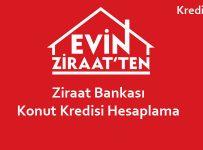 Ziraat Bankası Konut Kredisi Hesaplaması