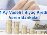 24 Ay Vadeli İhtiyaç Kredisi Veren Bankalar