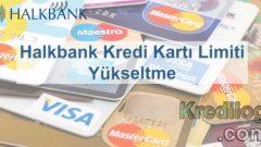 Halkbank Kredi Kartı Limiti Yükseltme 2018