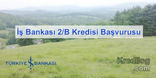 İş Bankası 2/B Kredisi Başvurusu