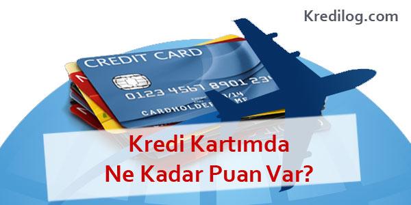 kredi kartımda ne kadar puan var