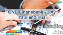 QNB Finansbank 72 Ay Yapılandırma 2018