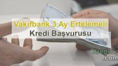 Vakıfbank 3 Ay Ertelemeli Kredi Başvurusu 2018