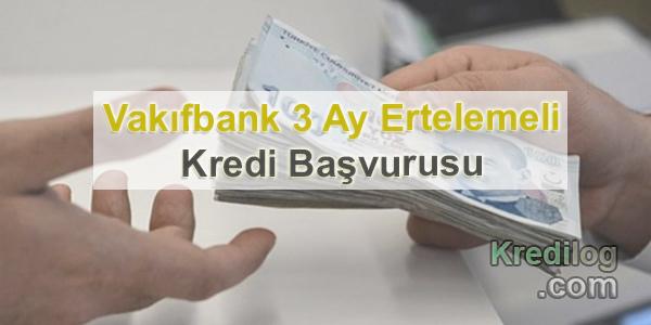 Vakıfbank 3 Ay Ertelemeli Kredi Başvurusu