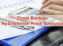 Ziraat Bankası 3 Ay Ertelemeli Kredi Başvurusu