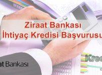 Ziraat Bankası İhtiyaç Kredisi Başvurusu