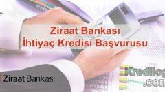 Ziraat Bankası İhtiyaç Kredisi Başvurusu 2018