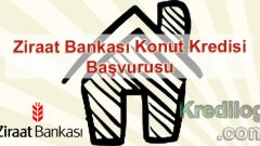 Ziraat Bankası Konut Kredisi Başvurusu 2018