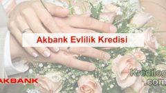 Akbank Evlilik Kredisi Başvurusu 2018