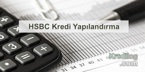 HSBC Kredi Yapılandırma