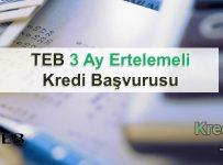 TEB 3 Ay Ertelemeli Kredi Başvurusu