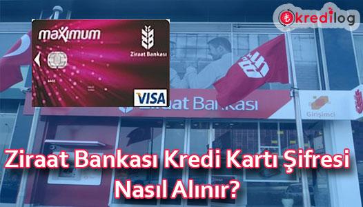 Ziraat Bankası Kredi Kartı Şifresi Almak