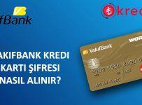 Vakıfbank Kredi Kartı Şifre Alma