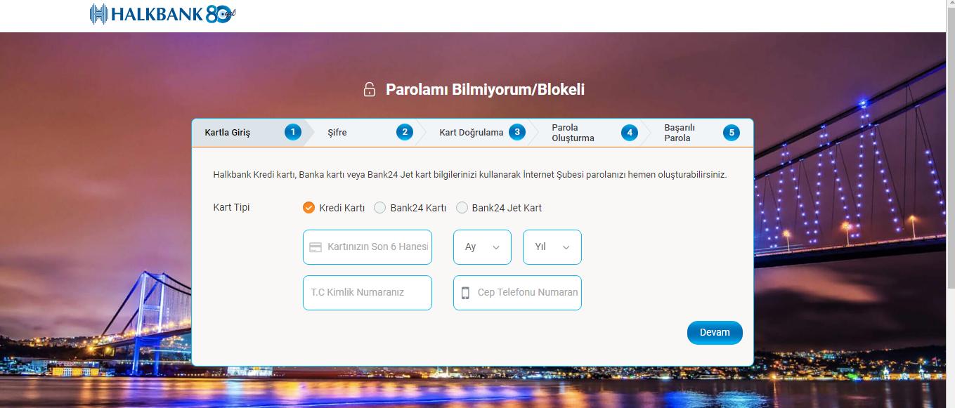 halk bankası internet şubesi şifresi