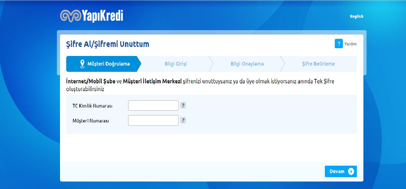 yapı kredi bankası internet şube