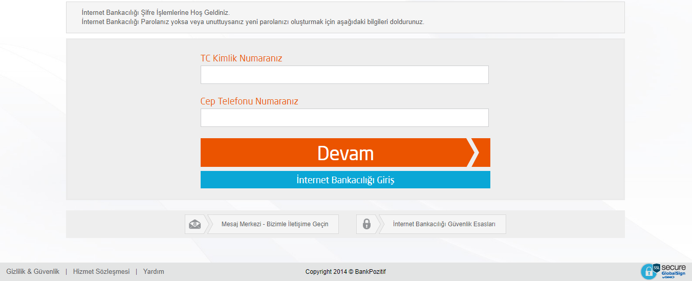 bankpozitif internet şube