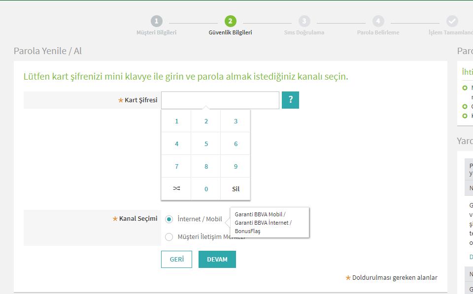 garanti bankası internet bankacılığı