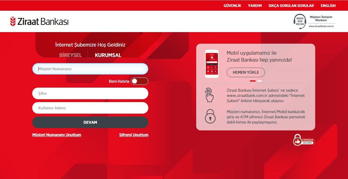 Ziraat Bankası İnternet Bankacılığı Açma, Başvuru, Şifre Alma İşlemleri |  Kredilog.com