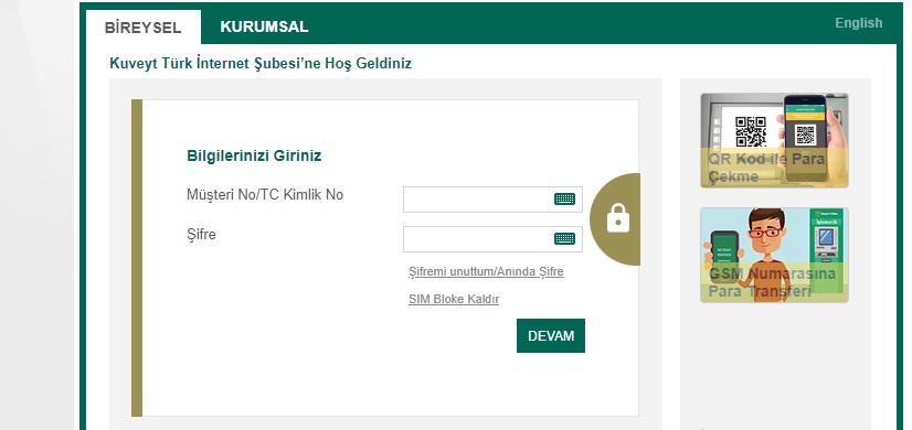 Kuveyt Türk İnternet Bankacılığı