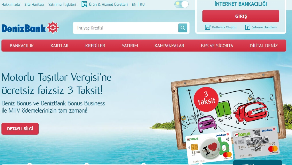 Denizbank İnternet Bankacılığı