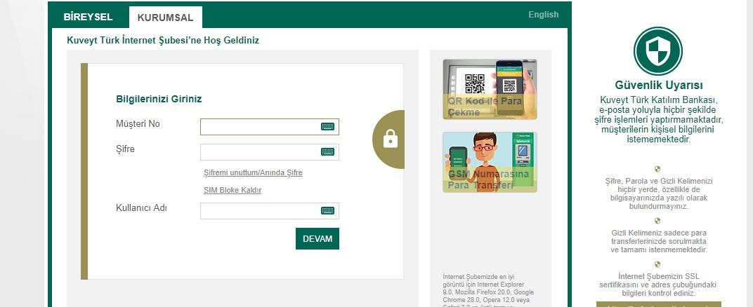 Kuveyt Türk İnternet Bankacılığı1
